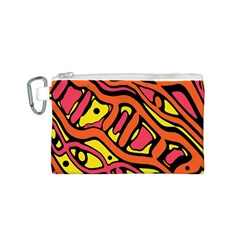 Orange hot abstract art Canvas Cosmetic Bag (S)