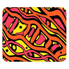 Orange hot abstract art Double Sided Flano Blanket (Small)