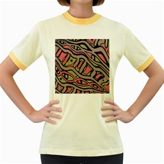 Decorative abstract art Women s Fitted Ringer T-Shirts