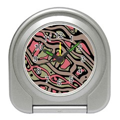 Decorative abstract art Travel Alarm Clocks