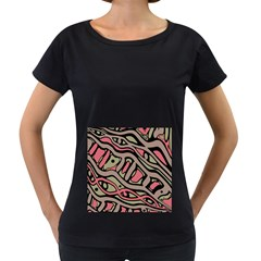 Decorative abstract art Women s Loose-Fit T-Shirt (Black)