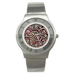 Decorative abstract art Stainless Steel Watch