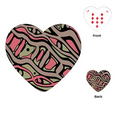 Decorative abstract art Playing Cards (Heart)