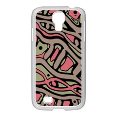 Decorative abstract art Samsung GALAXY S4 I9500/ I9505 Case (White)