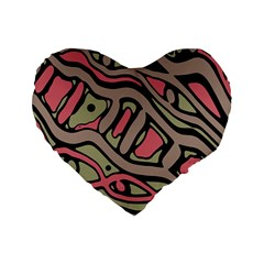 Decorative abstract art Standard 16  Premium Flano Heart Shape Cushions