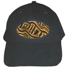 Brown abstract art Black Cap