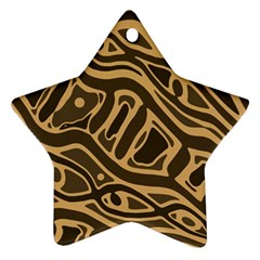 Brown abstract art Ornament (Star)