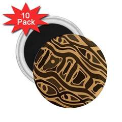 Brown abstract art 2.25  Magnets (10 pack)