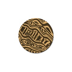 Brown abstract art Golf Ball Marker