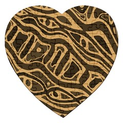 Brown abstract art Jigsaw Puzzle (Heart)