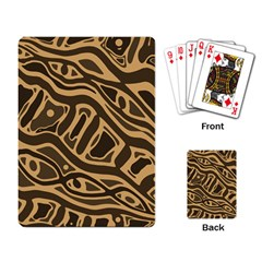Brown abstract art Playing Card