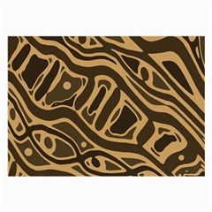 Brown abstract art Large Glasses Cloth