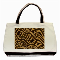 Brown abstract art Basic Tote Bag (Two Sides)