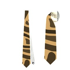 Brown abstract art Neckties (One Side)