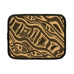 Brown abstract art Netbook Case (Small)