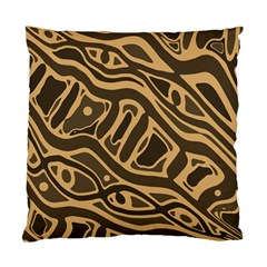 Brown abstract art Standard Cushion Case (One Side)