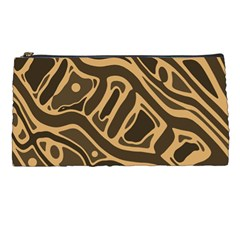 Brown abstract art Pencil Cases