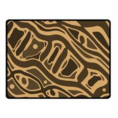 Brown abstract art Fleece Blanket (Small)