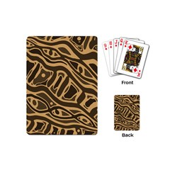 Brown abstract art Playing Cards (Mini)
