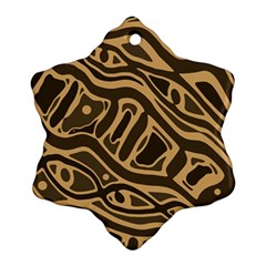Brown abstract art Ornament (Snowflake)