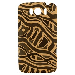 Brown abstract art HTC Sensation XL Hardshell Case