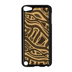 Brown abstract art Apple iPod Touch 5 Case (Black)