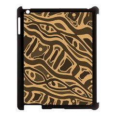 Brown abstract art Apple iPad 3/4 Case (Black)