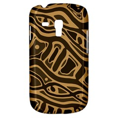 Brown abstract art Samsung Galaxy S3 MINI I8190 Hardshell Case