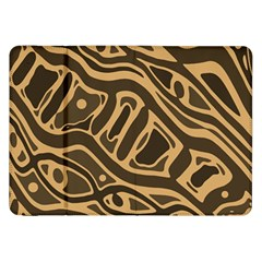 Brown abstract art Samsung Galaxy Tab 8.9  P7300 Flip Case