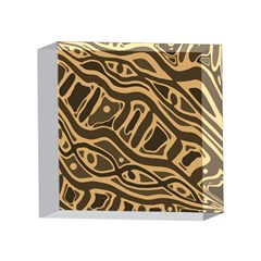 Brown abstract art 4 x 4  Acrylic Photo Blocks