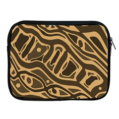 Brown abstract art Apple iPad 2/3/4 Zipper Cases