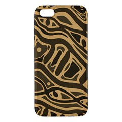 Brown abstract art iPhone 5S/ SE Premium Hardshell Case