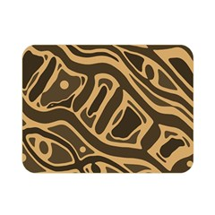 Brown abstract art Double Sided Flano Blanket (Mini)