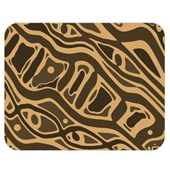 Brown abstract art Double Sided Flano Blanket (Medium)