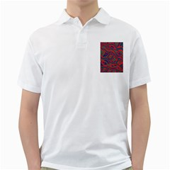Red and green abstract art Golf Shirts