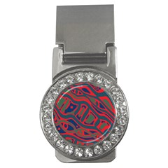 Red and green abstract art Money Clips (CZ)