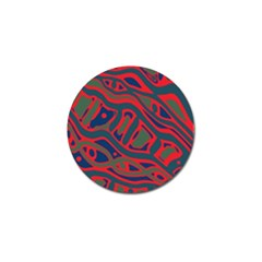 Red and green abstract art Golf Ball Marker (10 pack)