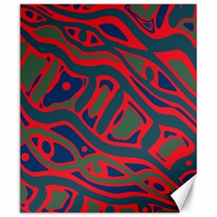 Red and green abstract art Canvas 20  x 24
