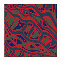 Red and green abstract art Medium Glasses Cloth (2-Side)