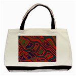 Red and green abstract art Basic Tote Bag (Two Sides) Back