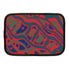 Red and green abstract art Netbook Case (Medium)