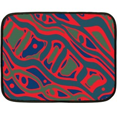 Red and green abstract art Fleece Blanket (Mini)