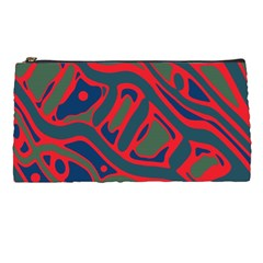 Red and green abstract art Pencil Cases