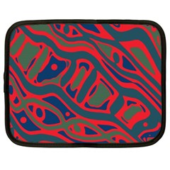 Red and green abstract art Netbook Case (XXL)