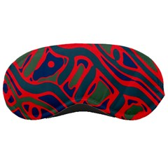 Red and green abstract art Sleeping Masks