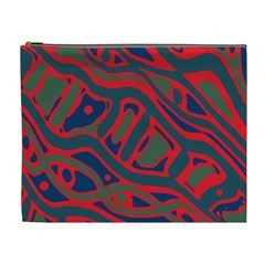 Red and green abstract art Cosmetic Bag (XL)