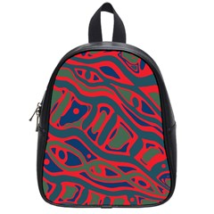 Red and green abstract art School Bags (Small)
