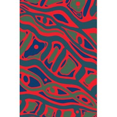 Red and green abstract art 5.5  x 8.5  Notebooks