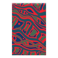 Red and green abstract art Shower Curtain 48  x 72  (Small)