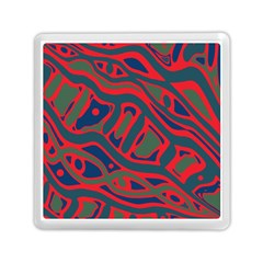 Red and green abstract art Memory Card Reader (Square)